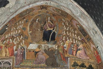St Francis Contemplates Apparition of Jesus and Virgin--Giclee Print