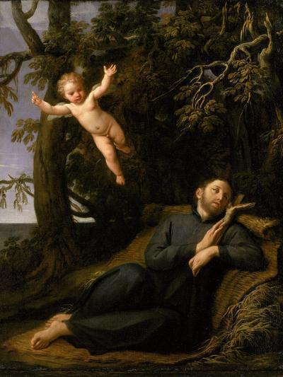 St. Francis De Sales (1567-1622) in the Desert, C.1700-10-Marco Antonio Franceschini-Giclee Print