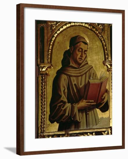 St. Francis, Detail from the Santa Lucia Triptych-Carlo Crivelli-Framed Giclee Print