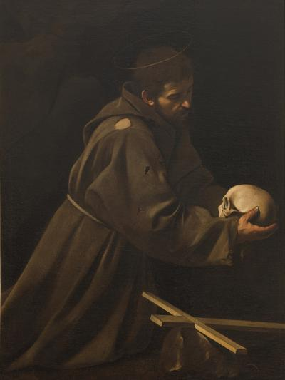 St Francis in Meditation-Caravaggio-Giclee Print