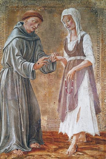 St Francis Marries Poverty-Domenico Di Bartolomeo-Giclee Print