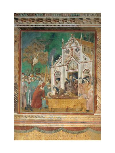 St. Francis Mourned by St. Clare-Giotto di Bondone-Art Print