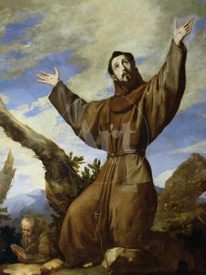 St Francis Of Assisi Circa 1182 1220 1642 Giclee Print By Jusepe