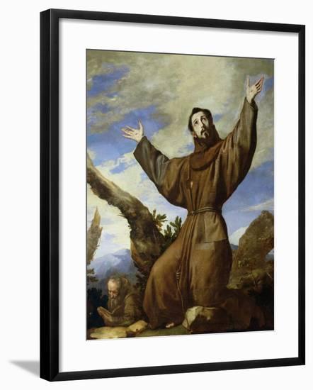 St. Francis of Assisi (circa 1182-1220) 1642-Jusepe de Ribera-Framed Giclee Print