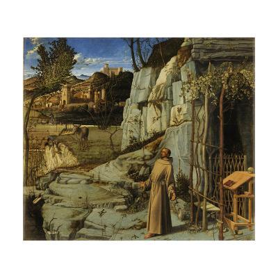 St. Francis of Assisi in the Desert, C.1480-Giovanni Bellini-Giclee Print