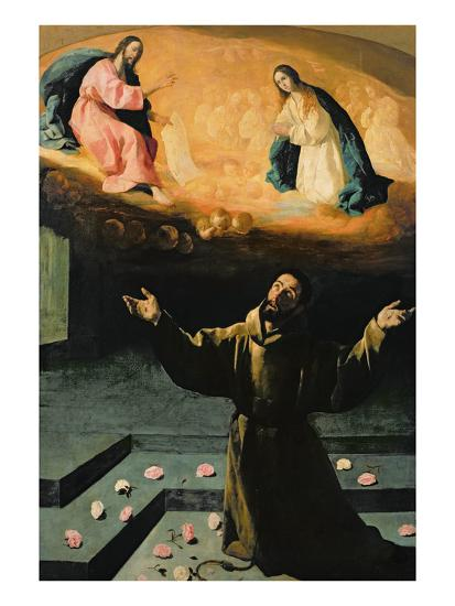 St. Francis of Assisi, or the Miracle of the Roses, 1630-Francisco de Zurbar?n-Giclee Print