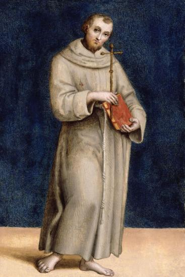 St. Francis of Assisi, Panel from the Predella of the Colonna Altarpiece, C.1502-Raphael-Giclee Print