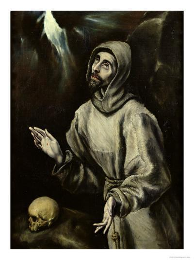 St. Francis of Assisi Receiving the Stigmata, c.1595-El Greco-Giclee Print