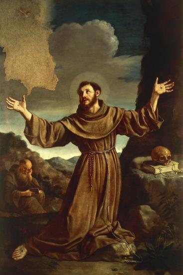 St. Francis of Assisi Receiving the Stigmata--Giclee Print