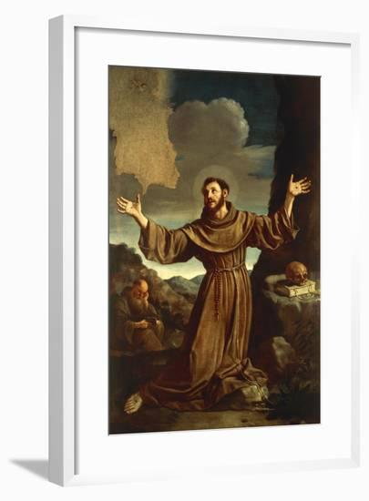 St. Francis of Assisi Receiving the Stigmata--Framed Giclee Print