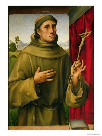St. Francis of Assissi, c.1490-Francesco Francia-Giclee Print