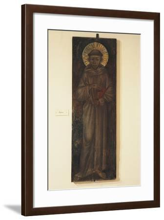 St Francis, Painted on Panel by Cimabue--Framed Giclee Print