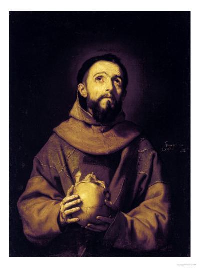 St. Francis, Palatine Gallery, Pitti Palace, Florence-Jusepe de Ribera-Giclee Print