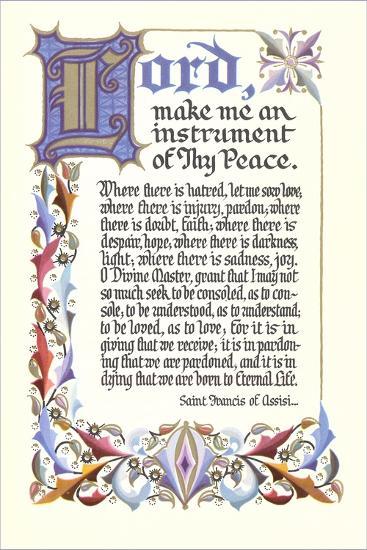 St. Francis Prayer--Art Print