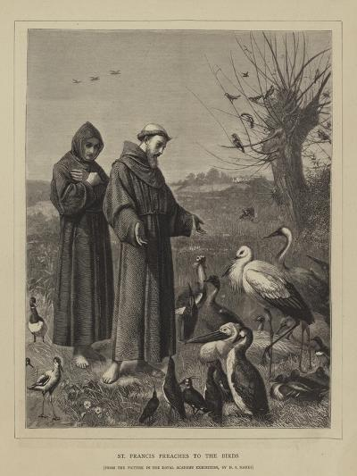 St Francis Preaches to the Birds-Henry Stacey Marks-Giclee Print