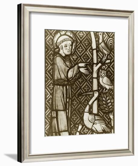 St. Francis Preaching to the Birds--Framed Giclee Print