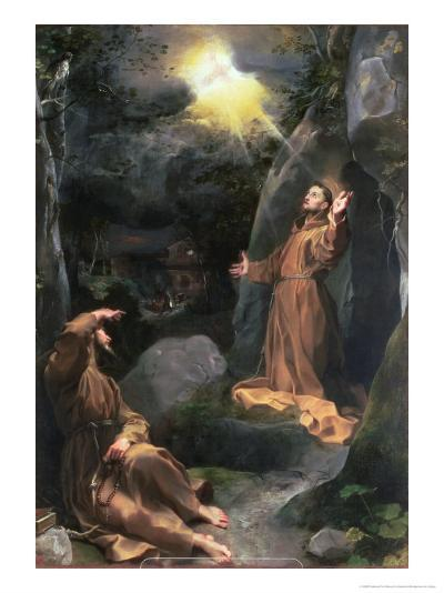 St. Francis Receiving the Stigmata-Federico Barocci-Giclee Print