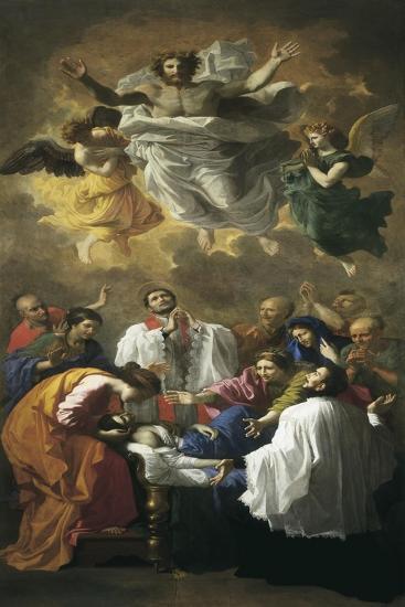 St. Francis Xavier Reviving Inhabitant of Cangoxima, Japan-Nicolas Poussin-Art Print