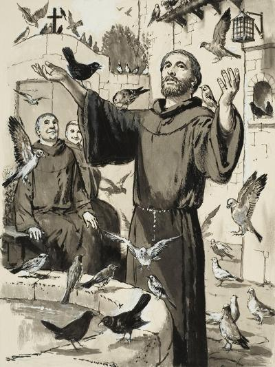 St Francis-Clive Uptton-Giclee Print