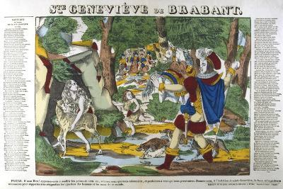 St Genevieve of Brabant in the Forest, 19th Century--Giclee Print