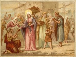 St Genevieve Saving Paris from Famine, 465