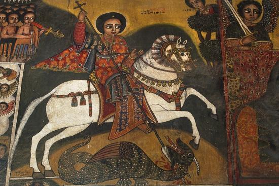 St George and Dragon--Photographic Print