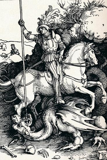 St George and the Dragon, 1505-Albrecht D?rer-Giclee Print