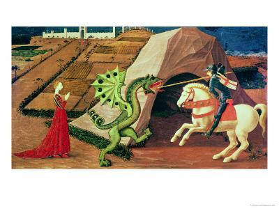 St. George and the Dragon, circa 1439-40-Paolo Uccello-Giclee Print
