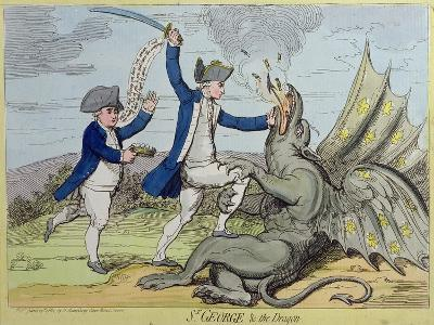 St. George and the Dragon, Published by Hannah Humphrey in 1782-James Gillray-Giclee Print