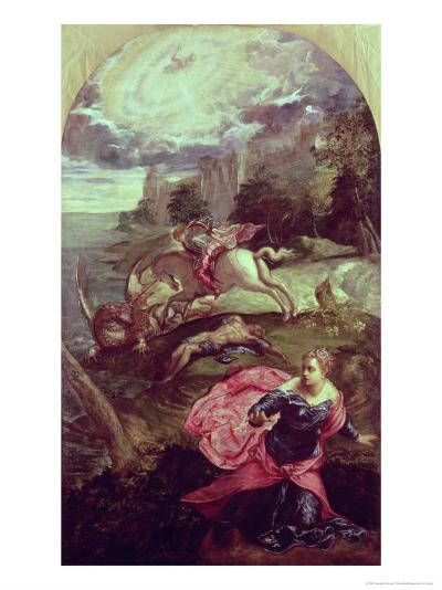 St.George and the Dragon-Jacopo Robusti Tintoretto-Giclee Print