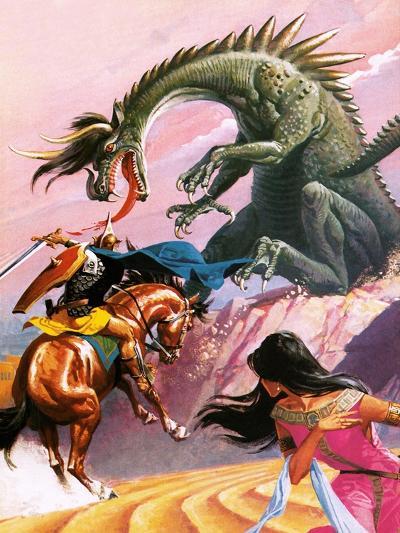 St George and the Dragon-Severino Baraldi-Giclee Print