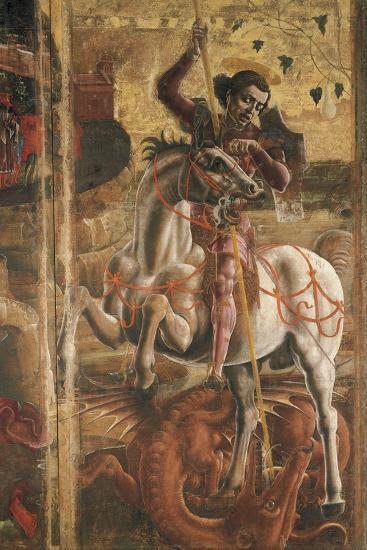 St George and the Princess, Organ-Shutter Wood in the Cathedral of Ferrara, 1469-Cosme Tura-Giclee Print