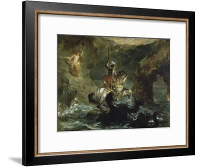 St. George Combattant Le Dragon-Eugene Delacroix-Framed Giclee Print