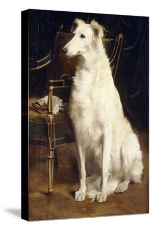 A Borzoi by a Chair