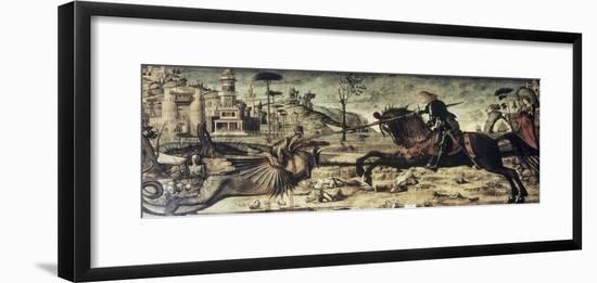 St. George Killing the Dragon-Vittore Carpaccio-Framed Giclee Print