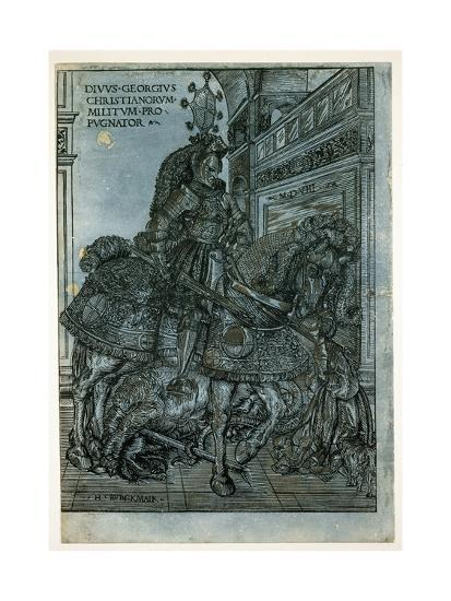 St George on Horseback, 1508-Hans Burgkmair-Giclee Print
