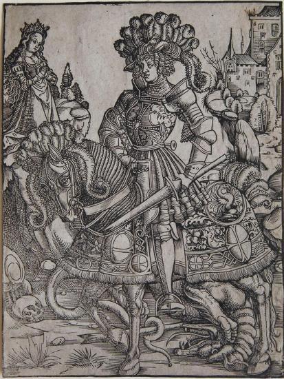 St. George on Horseback, C.1510-Hans Burgkmair-Giclee Print