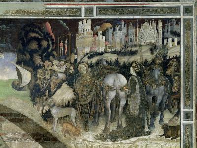 St. George Rescuing the Princess of Trebizond, c.1433-38-Antonio Pisani Pisanello-Giclee Print