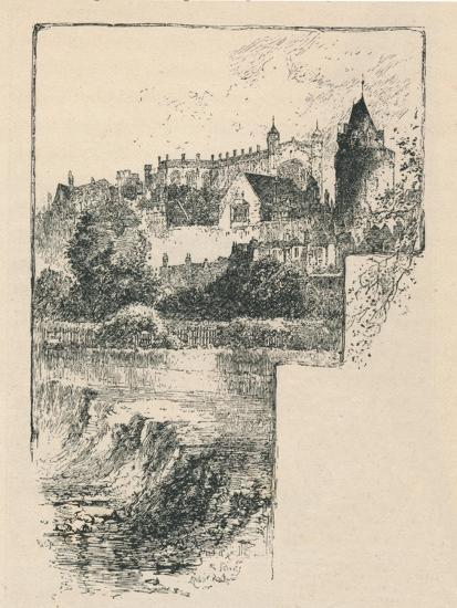 'St. George's Chapel from the River', 1895-Unknown-Giclee Print