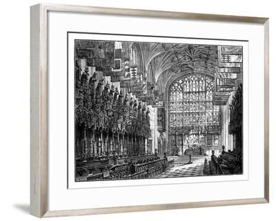 St George's Chapel, Windsor, Showing Royal Gallery and Altar--Framed Giclee Print
