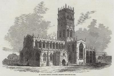 St George's Church, Doncaster, Recently Destroyed by Fire--Giclee Print