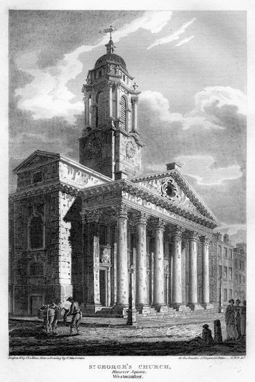 St George's Church, Hanover Square, Westminster, London, 1810-John Le Keux-Giclee Print