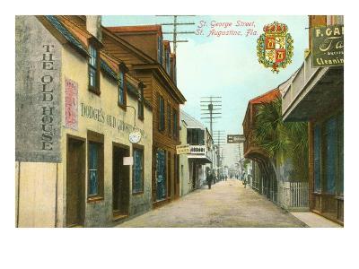 St. George Street, St. Augustine, Florida--Art Print