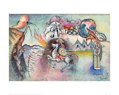 St George the Victorious (Reproduction)-Wassily Kandinsky-Giclee Print