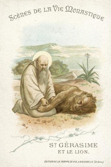 St Gerasimus and the Lion--Giclee Print