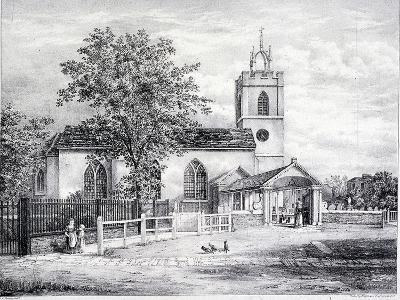 St Giles, Camberwell, London, C1825-Graf and Co Englemann-Giclee Print