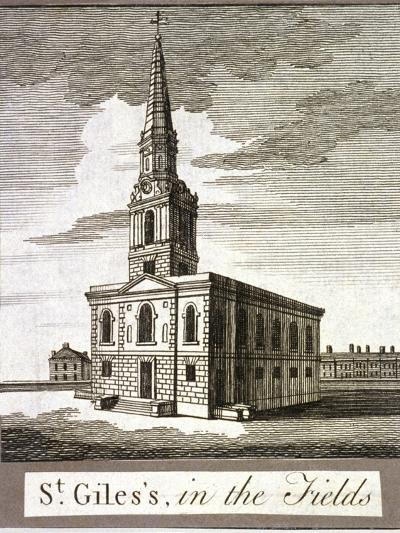 St Giles in the Fields, Holborn, London, C1750--Giclee Print