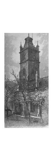 'St. Giles's, Cripplegate', 1890-A W Henley-Giclee Print