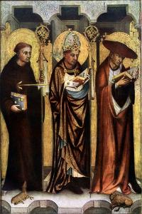 St Giles, St Gregory, and St Jerome, C1380