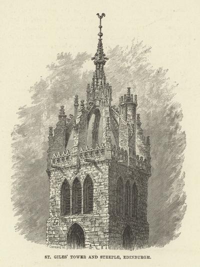St Giles' Tower and Steeple, Edinburgh--Giclee Print